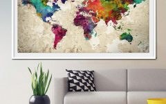 Travel Map Wall Art