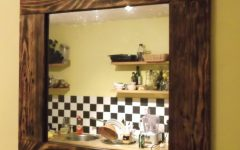 Natural Wood Framed Mirrors