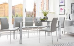 Chrome Glass Dining Tables