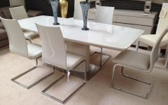 Cream Gloss Dining Tables and Chairs