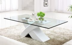 White Wood and Glass Coffee Tables