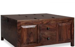 Square Coffee Tables With Storages