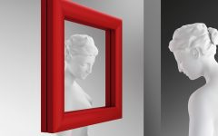Red Wall Mirrors