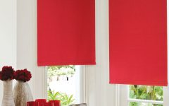 Red Roman Blinds Kitchen