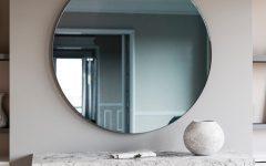 Blue Round Mirror