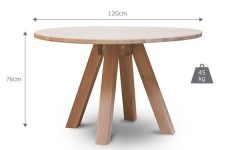 Circular Oak Dining Tables