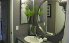 Round Bathroom Mirror for Small Bathroom Sink