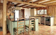 Rustic Kitchen Design With Wood Beam Ceiling