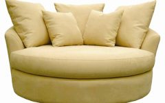 Round Swivel Sofa Chairs