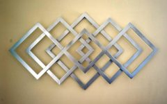 Abstract Geometric Metal Wall Art