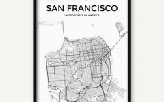 San Francisco Map Wall Art