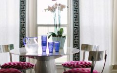 Shiny Metal Chairs and Polished Table for Art Decor Dining Room Decor