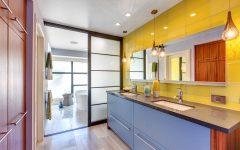 Shoji Style Sliding Door for Modern Asian Bathroom