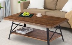 Carbon Loft Enjolras Wood Steel Coffee Tables