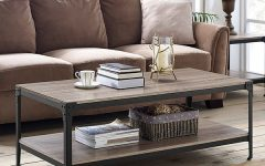 Carbon Loft Witten Angle Iron and Driftwood Coffee Tables