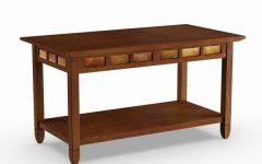 Copper Grove Ixia Rustic Oak and Slate Tile Coffee Tables