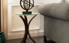 Copper Grove Rochon Glass Top Wood Accent Tables