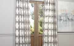 Sarong Grey Printed Cotton Pole Pocket Single Curtain Panels