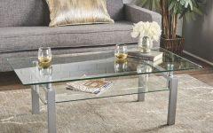 Finbar Modern Rectangle Glass Coffee Tables