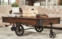Myra Vintage Industrial Modern Rustic 47-Inch Coffee Tables