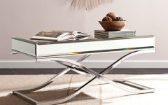 Silver Orchid Olivia Chrome Mirrored Coffee Cocktail Tables