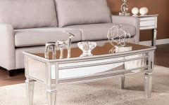 Silver Orchid Olivia Mirrored Coffee Cocktail Tables