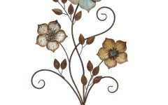 Metal Flowers Wall Art