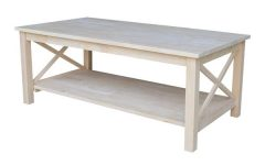 Unfinished Solid Parawood Hampton Coffee Tables