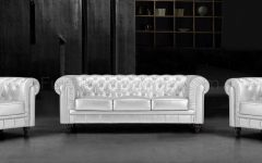 Silver Tufted Sofas