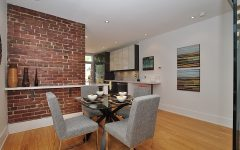 Simple Dining Room Brick Wall Decor