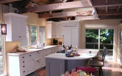 Simply Modern Kitchen With Wood Beam Ceiling