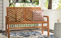 Skoog Chevron Wooden Garden Benches