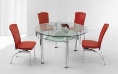Glass Round Extending Dining Tables