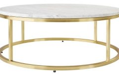 Smart Round Marble Brass Coffee Tables