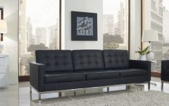 Florence Knoll Leather Sofas