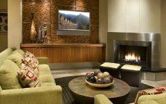 Stainless Steel Fireplace in Modern Sleek Living Room