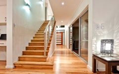 Straight Wooden Staircase Design