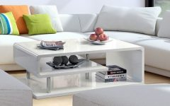 Strick & Bolton Sylvia Geometric High Gloss Coffee Tables