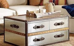 Steamer Trunk Stainless Steel Coffee Tables