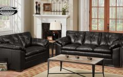 Black Leather Sofas and Loveseats