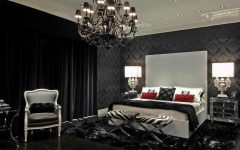 Black Chandelier Bedroom