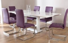 Dining Tables and Purple Chairs