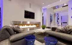 Stylish Contemporary Living Room Beige Walls