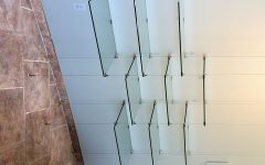 Cable Suspended Glass Shelves