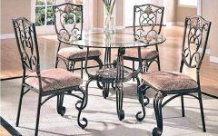 Retro Round Glasstop Dining Tables