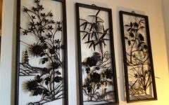 Asian Metal Wall Art