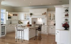 Traditional American Kitchen Interior With Wood Flooring