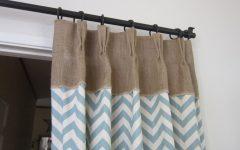 Turquoise Burlap Curtains