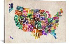 Us Map Wall Art