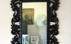 Baroque Mirror Black